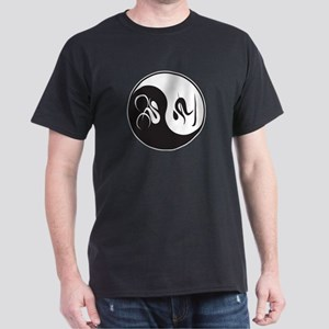 Bike-Ski Yin Yang Dark T-Shirt