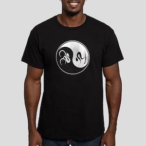 Bike-Ski Yin Yang Men's Fitted T-Shirt (dark)