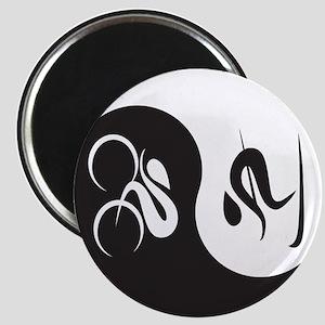 Bike-Ski Yin Yang Magnet