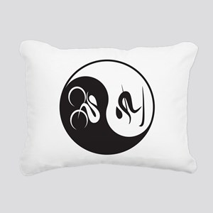 Bike-Ski Yin Yang Rectangular Canvas Pillow