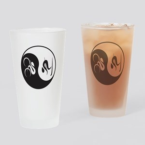 Bike-Ski Yin Yang Drinking Glass