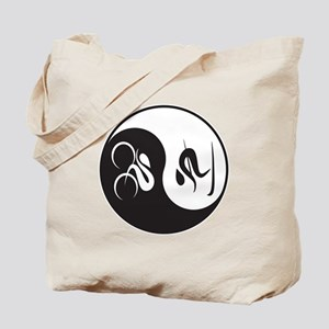 Bike-Ski Yin Yang Tote Bag