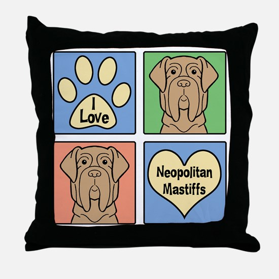 Cute Dog breed cartoon Throw Pillow