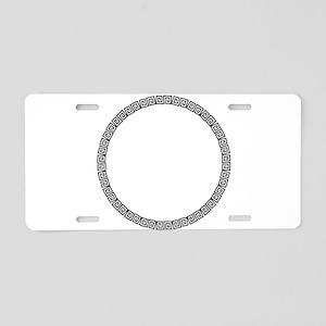 Circular Pattern Aluminum License Plate