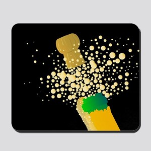 Champagne bottle Mousepad
