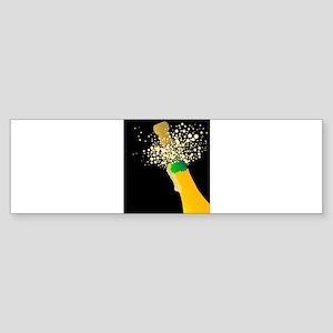 Champagne bottle Bumper Sticker