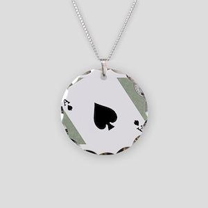 Gambling Necklace Circle Charm