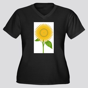 Giant Sunflower Plus Size T-Shirt