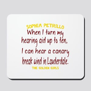 Golden Girls Sophia Quote Break Wind Mousepad
