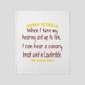 Golden Girls Sophia Quote Break Wind Throw Blanket