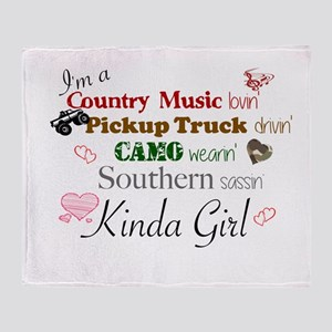 SOUTHERN SASSIN' KINDA GIRL Throw Blanket