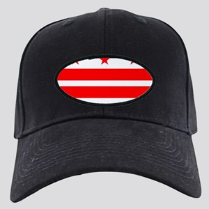 Washington DC State Flag Black Cap