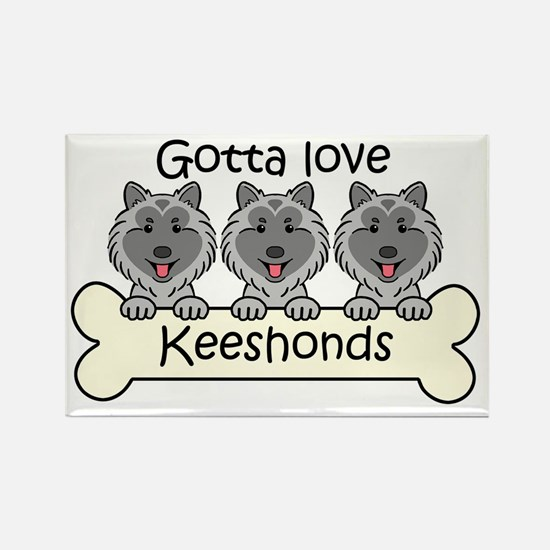 Unique Keeshond lover Rectangle Magnet
