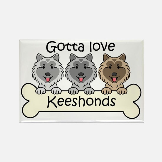 Cute Keeshond lover Rectangle Magnet