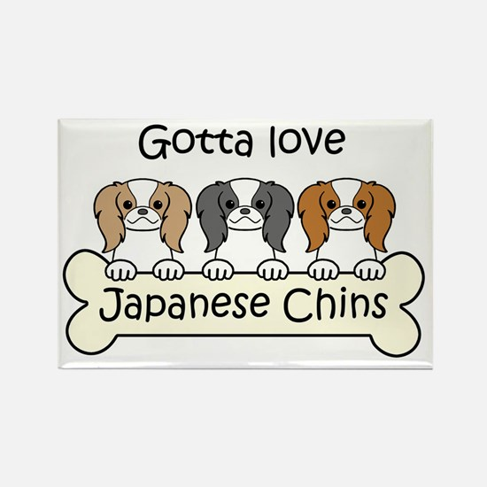 Cute Japanese chin art Rectangle Magnet