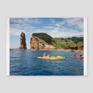 Kayaking in Azores 5'x7'Area Rug