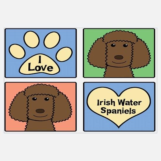 Funny Irish water spaniel Wall Art