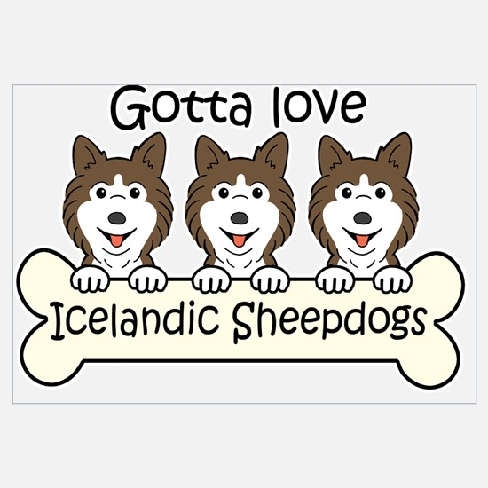 Unique Icelandic sheepdog Wall Art