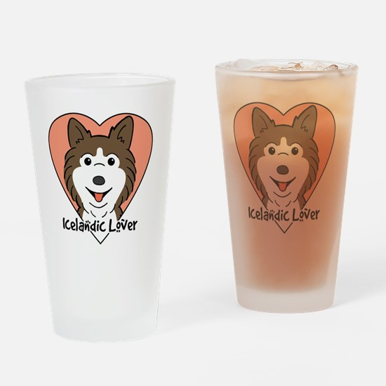 Icelandic sheepdog Drinking Glass