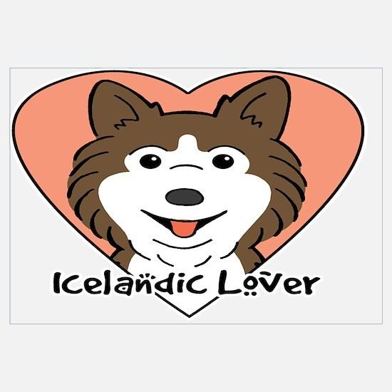 Funny Icelandic sheepdog Wall Art