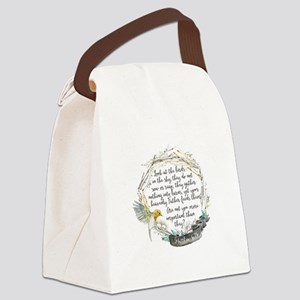 Birds in the Sky Canvas Lunch Bag