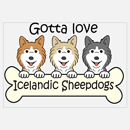 Icelandic sheepdog Wall Art