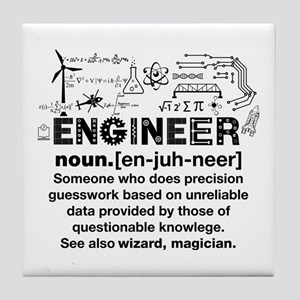 Engineer Funny Definition Tile Coaster