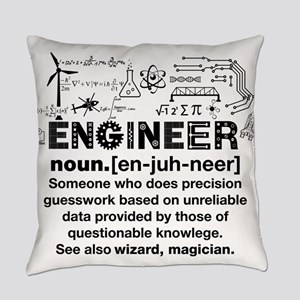 Engineer Funny Definition Everyday Pillow