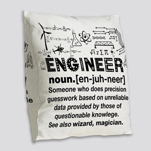 Engineer Funny Definition Burlap Throw Pillow