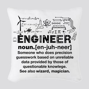 Engineer Funny Definition Woven Throw Pillow