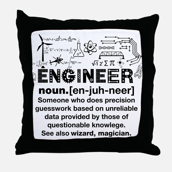 Engineer Funny Definition Throw Pillow