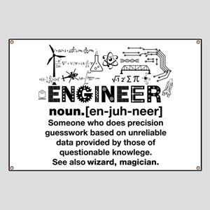 Engineer Funny Definition Banner