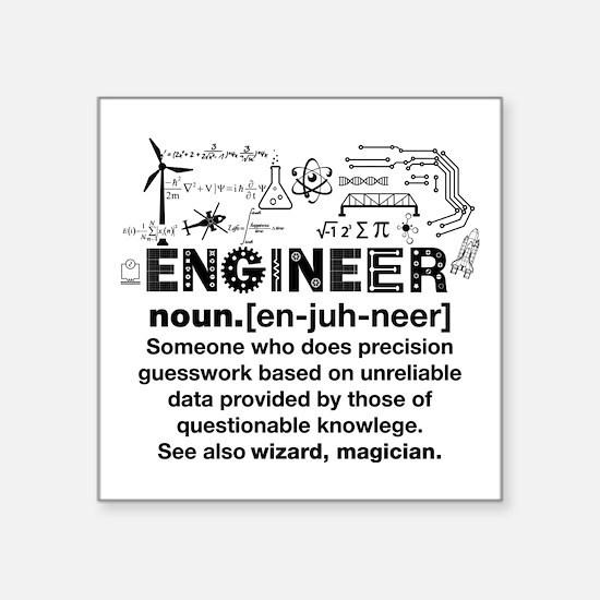 Engineer Funny Definition Sticker