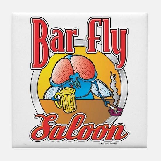 Bar Fly Saloon Tile Coaster