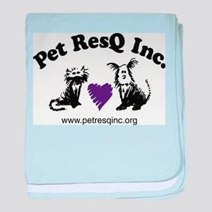 Pet ResQ Inc Logo baby blanket
