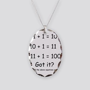 2-Got it Necklace Oval Charm