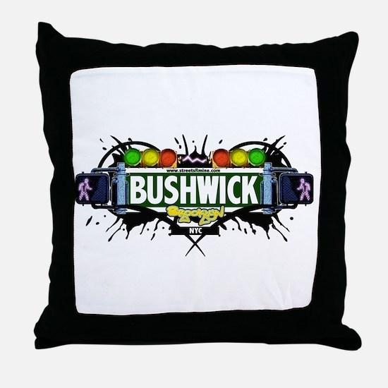 Bushwick (White) Throw Pillow
