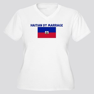 HAITIAN BY MARRIAGE Women's Plus Size V-Neck T-Shi