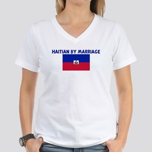 HAITIAN BY MARRIAGE Women's V-Neck T-Shirt