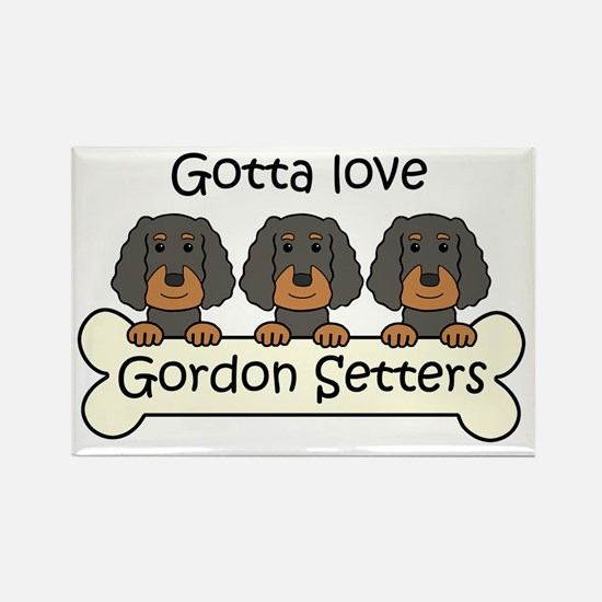 Funny Puppy love Rectangle Magnet