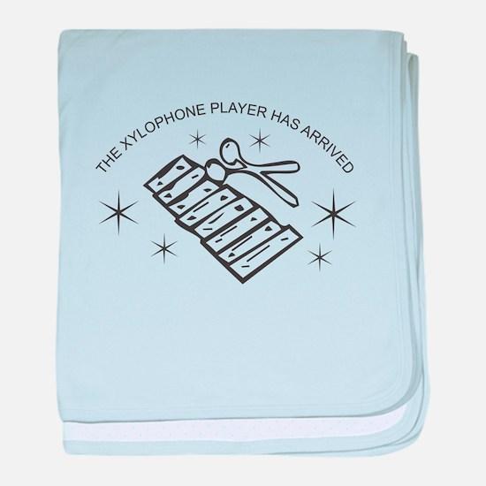 Xylophone Player baby blanket