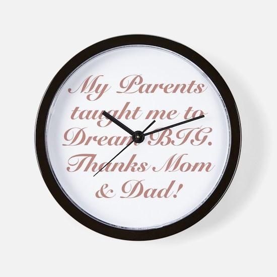 Thanks Mom & Dad! Wall Clock
