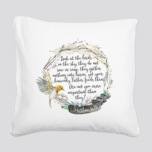 Birds in the Sky Square Canvas Pillow