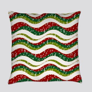 Christmas waves and music Everyday Pillow