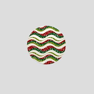 Christmas waves and music Mini Button