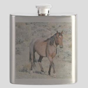 Wild Horses of Sand Wash Basin, Colorado Flask