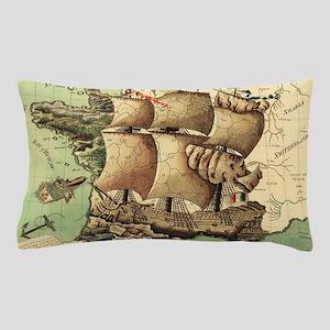 Ancient Map Pillow Case