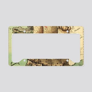 Ancient Map License Plate Holder