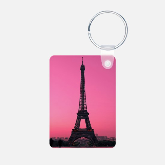 Eiffel Tower Aluminum Photo Keychain