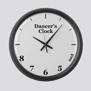 Dancer's Clock Large Wall Clock